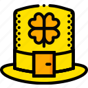 hat, holiday, leprechaun, season, yellow icon