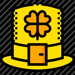 hat, holiday, leprechaun, season, yellow icon