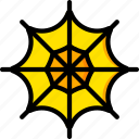 holiday, season, spider, web, yellow icon