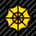 holiday, season, spider, web, yellow