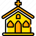church, god, holiday, season, yellow icon