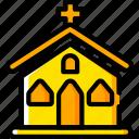 church, god, holiday, season, yellow