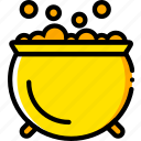 bubbling, cauldron, holiday, season, yellow icon