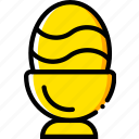 dinner, easter, holiday, season, yellow icon