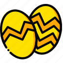 easter, eggs, holiday, season, yellow icon