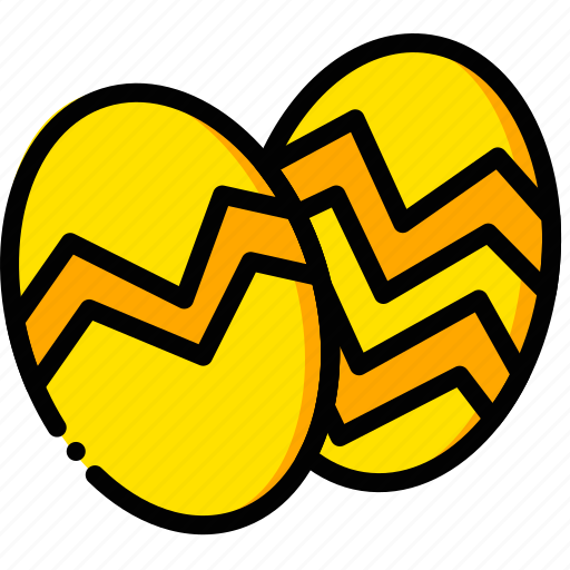 easter, eggs, holiday, season, yellow icon