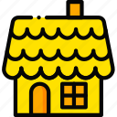 gingerbread, holiday, house, season, yellow icon