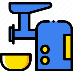 belongings, furniture, grinder, households, meat icon