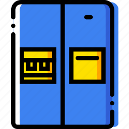 belongings, door, fridge, furniture, households icon