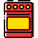 belongings, cooker, furniture, households icon