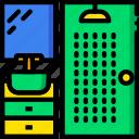 belongings, furniture, households, shower icon