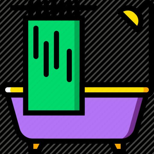 bath, belongings, furniture, households, tub icon