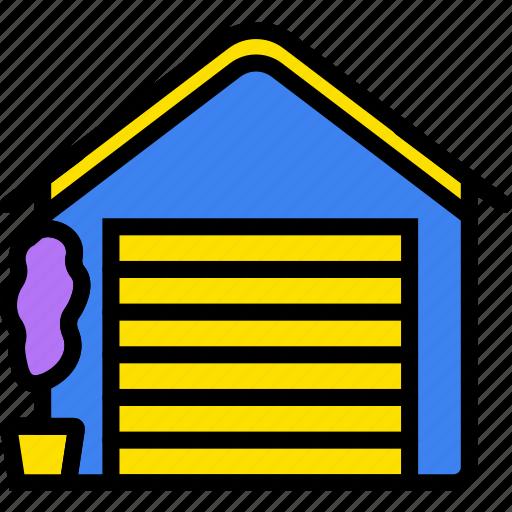 belongings, door, furniture, garage, households icon