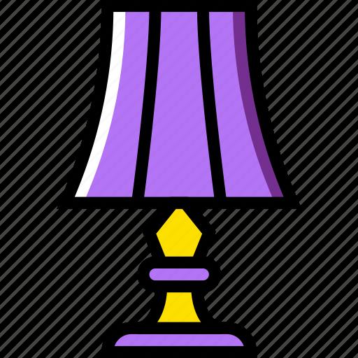 belongings, furniture, households, lamp, room icon