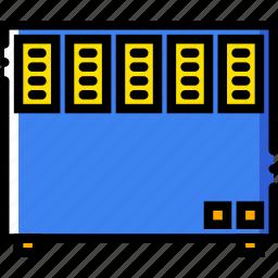 belongings, electric, furniture, households, radiator icon