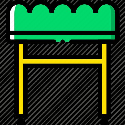 belongings, furniture, households, stool icon