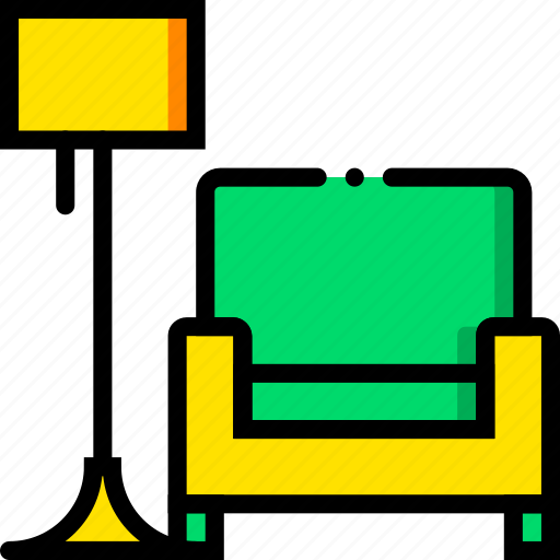 armchair, belongings, cozy, furniture, households icon
