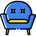 armchair, belongings, furniture, households icon