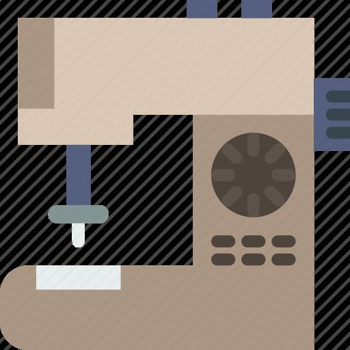 belongings, furniture, households, machine, sewing icon
