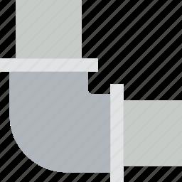 belongings, elbow, furniture, households, pipe icon