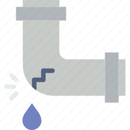 belongings, furniture, households, leaky, pipe icon