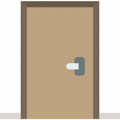 belongings, door, furniture, households icon