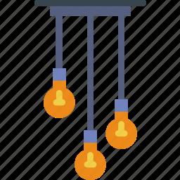 belongings, furniture, households, lights icon