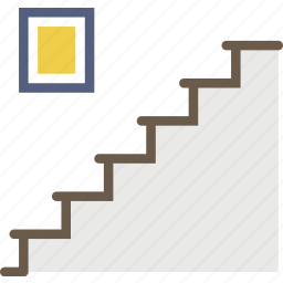 belongings, furniture, households, staircase icon