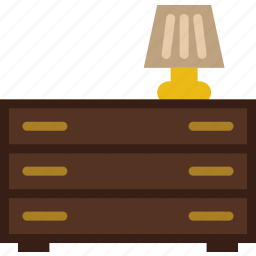 belongings, drawer, furniture, households icon