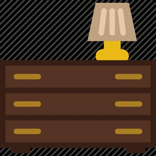 belongings, drawer, furniture, households icon