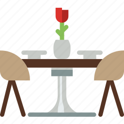 belongings, dining, furniture, households, table icon