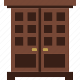 belongings, furniture, households, vintage, wardrobe icon