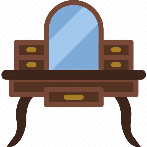 belongings, furniture, households, vanity icon
