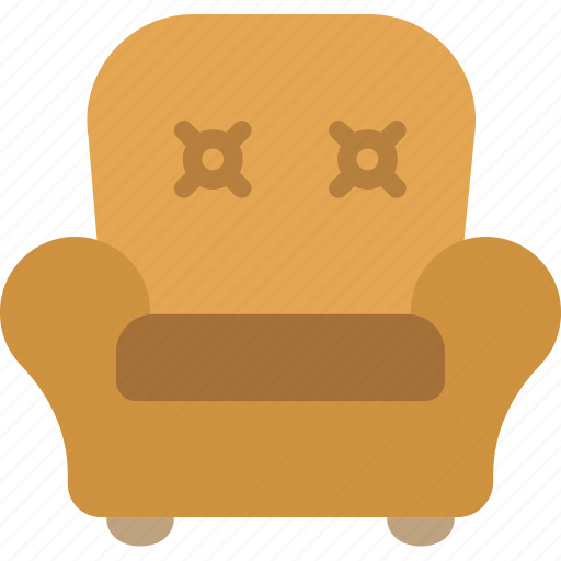 armchair, belongings, furniture, households, leather icon