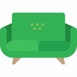 belongings, couch, furniture, households icon