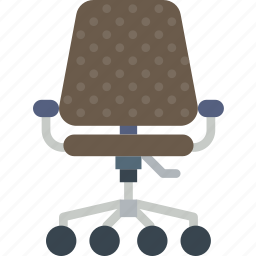 belongings, chair, furniture, households, office icon