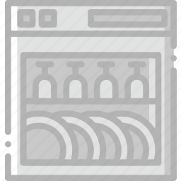 belongings, dish, furniture, households, washer icon