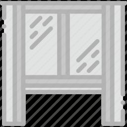 belongings, furniture, households, interior, window icon