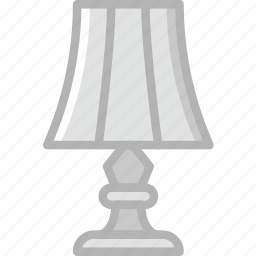 belongings, furniture, households, lamp, room icon