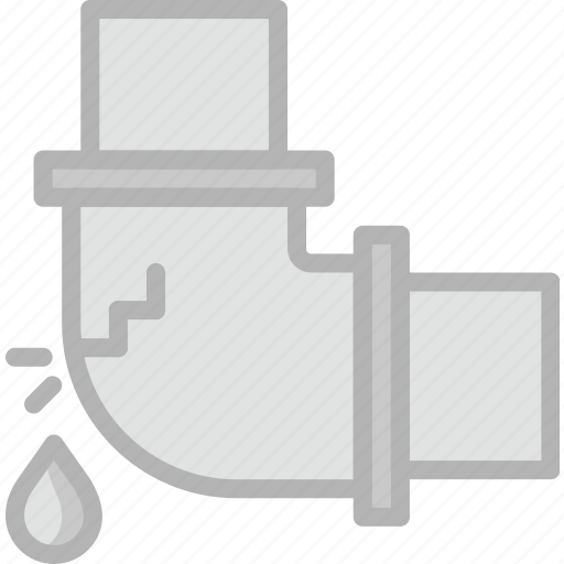 belongings, elbow, furniture, households, leaky, pipe icon