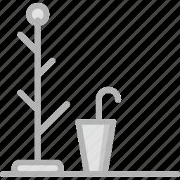 belongings, furniture, hanger, households icon