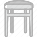 belongings, furniture, households, stool icon