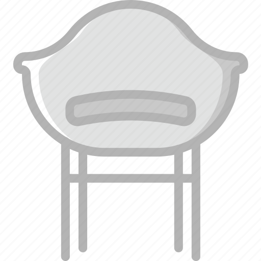 belongings, chair, furniture, households icon