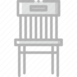 belongings, chair, dining, furniture, households icon