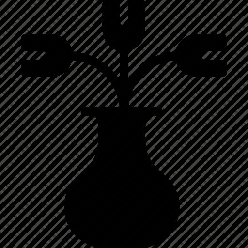 belongings, furniture, households, tulips icon