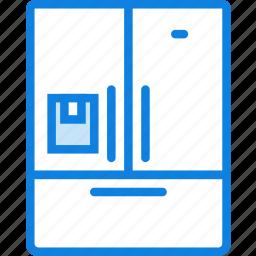 belongings, door, fridge, furniture, households icon