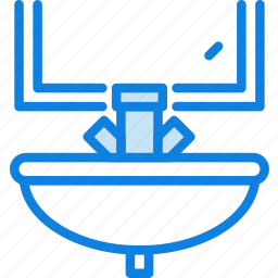 belongings, furniture, households, sink icon