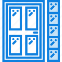 backdoor, belongings, furniture, households icon