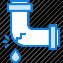 belongings, furniture, households, leaky, pipe icon