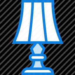 belongings, furniture, households, lamp icon